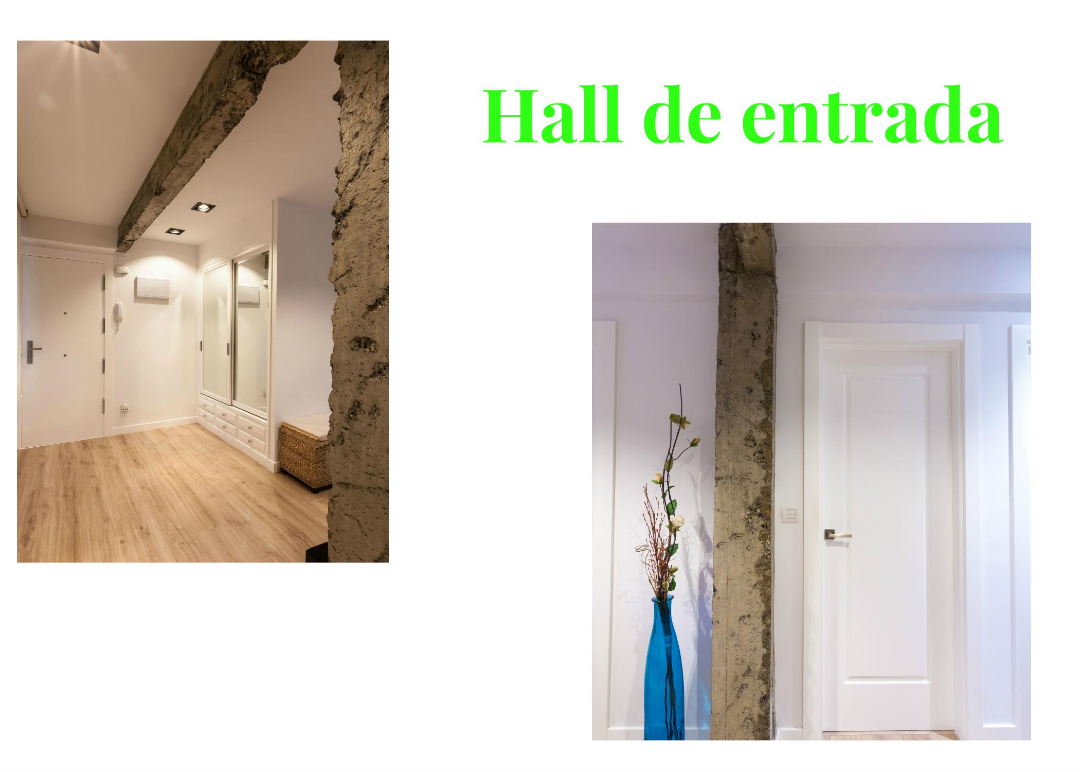 Imagen del Hall de entrada de una vivienda en Arrigorriaga donde hemos realizado una reforma integral.ma